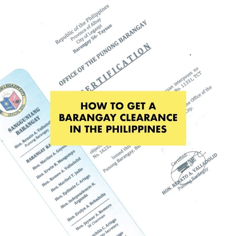 get barangay clearance philippines
