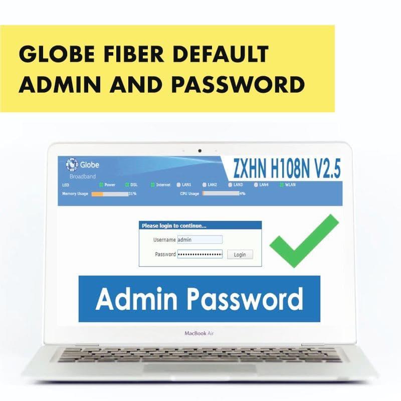 Globe Fiber Default Admin and Password